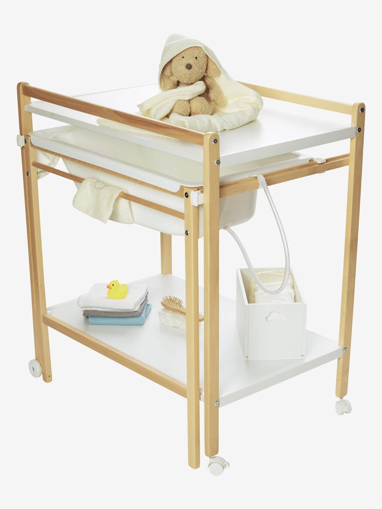 best table langer avec baignoire intgre vertbaudet. Black Bedroom Furniture Sets. Home Design Ideas