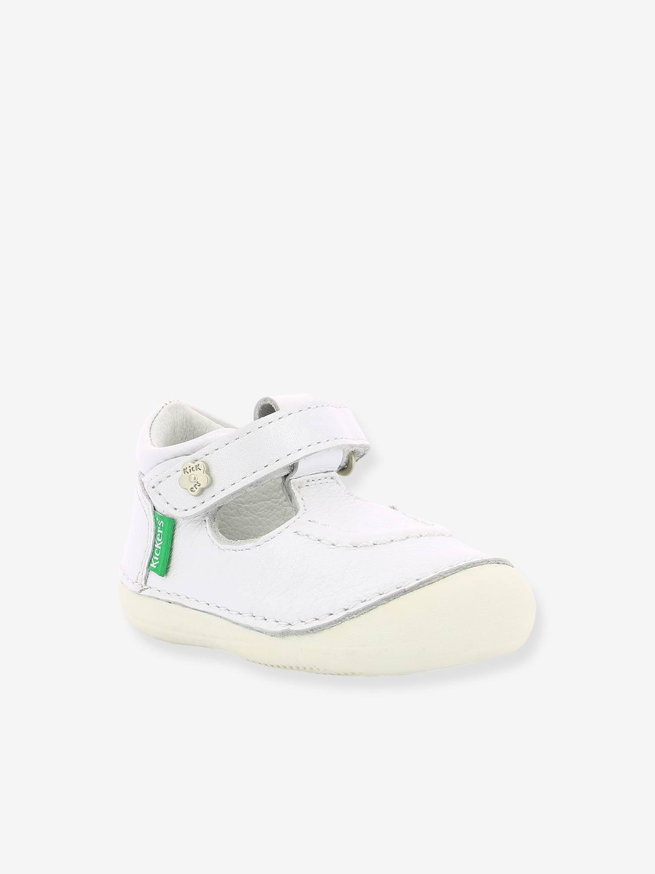 Sandales cuir bébé fille Salomé KICKERS® 1ers pas blanc