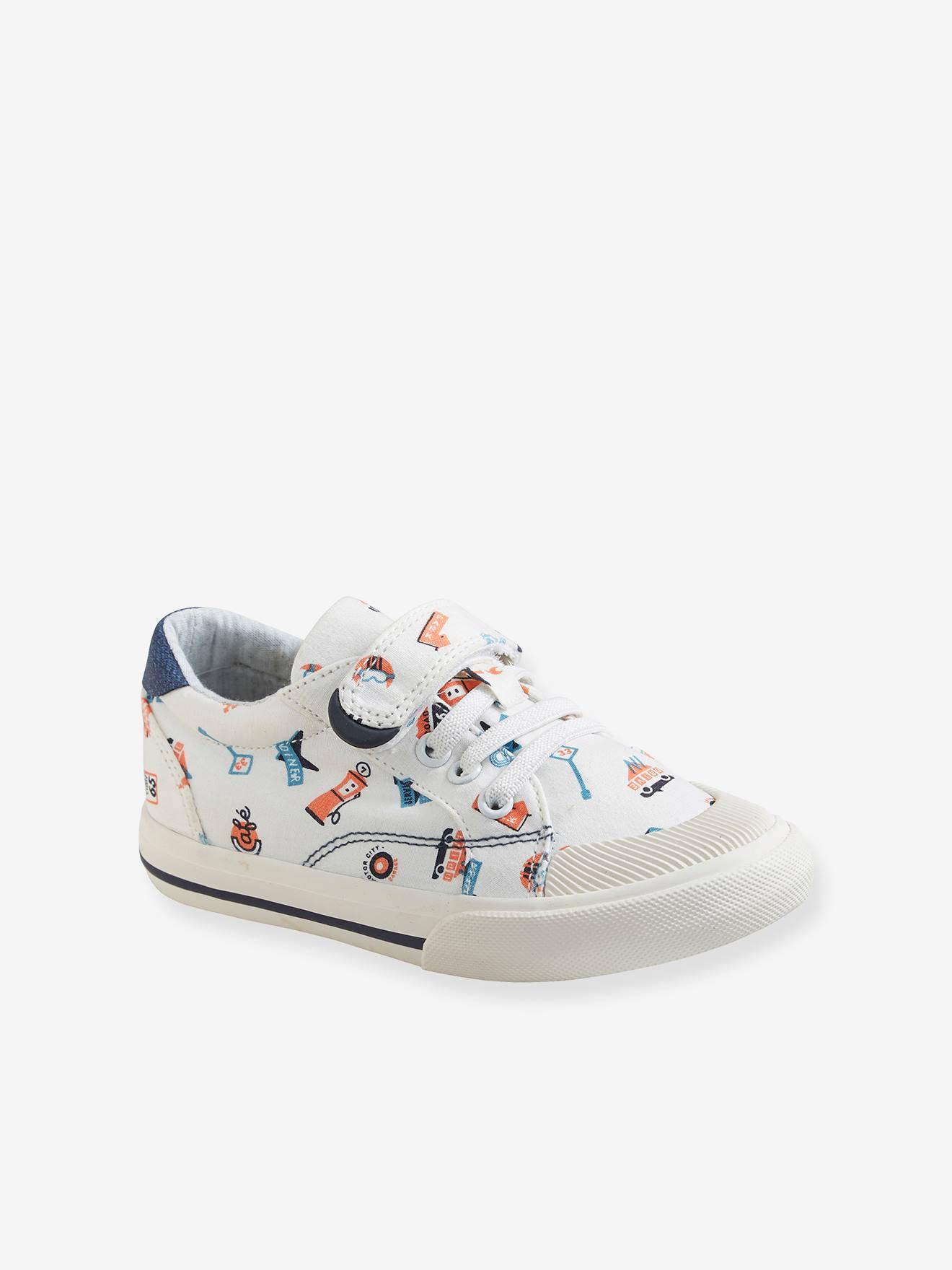 Baskets garçon collection maternelle blanc Vertbaudet