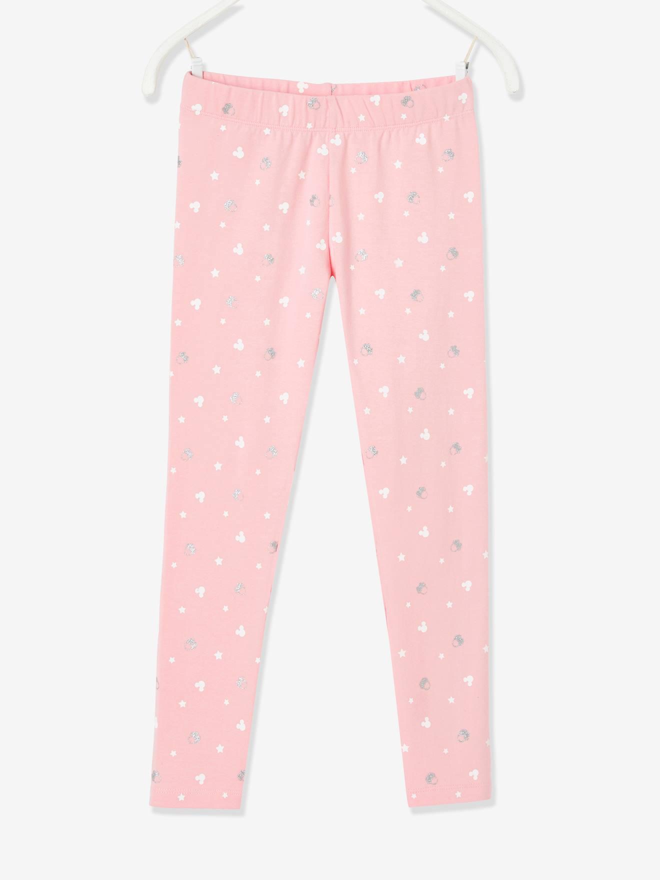 Legging fille Disney Minnie® à paillettes rose