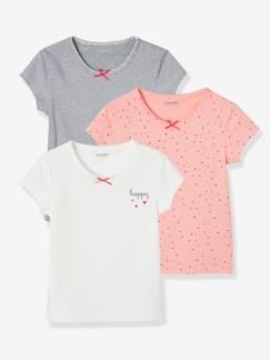 Vertbaudet T-Shirt b/éb/é Fille /à Pompons et Motif