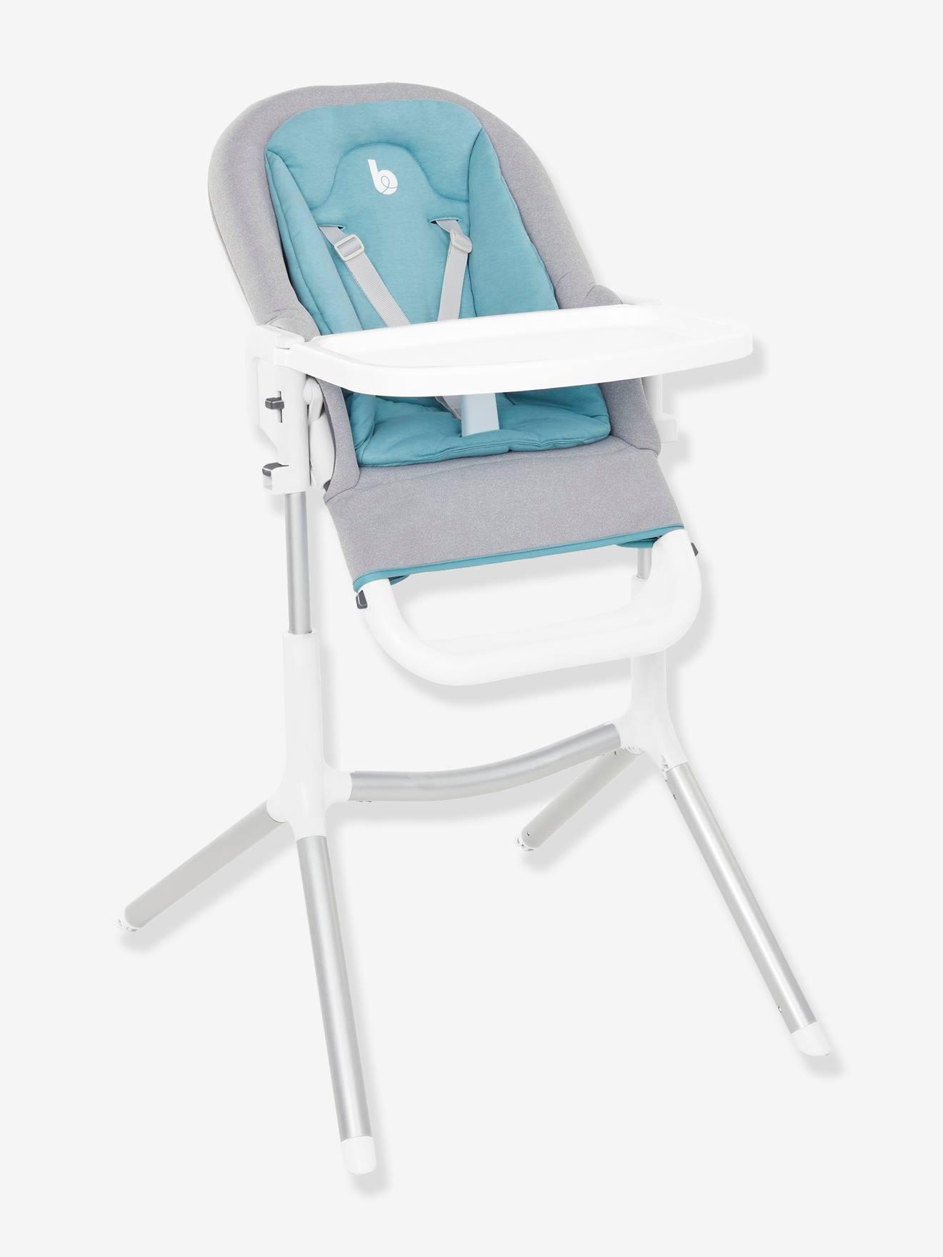 Chaise haute Slick 2 en 1 BABYMOOV blanc bleu gris