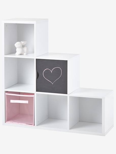 meuble de rangement 6 cases blanc vertbaudet. Black Bedroom Furniture Sets. Home Design Ideas