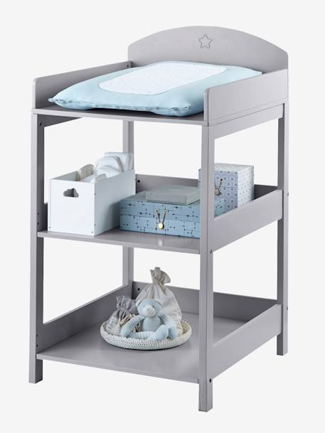 Table langer sirius gris vertbaudet - Table a langer rangement ...