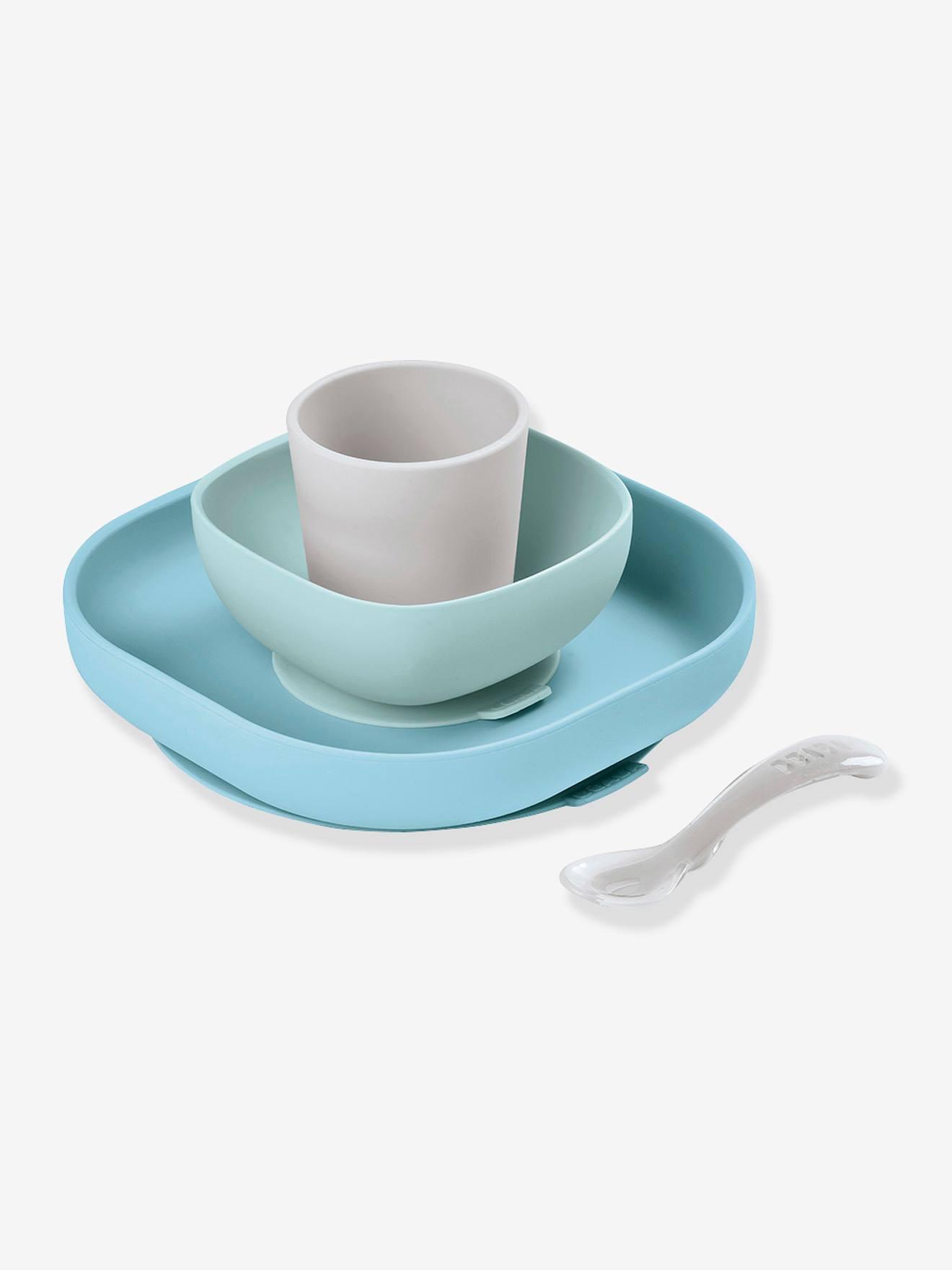 Set vaisselle 4 pièces silicone BEABA jungle