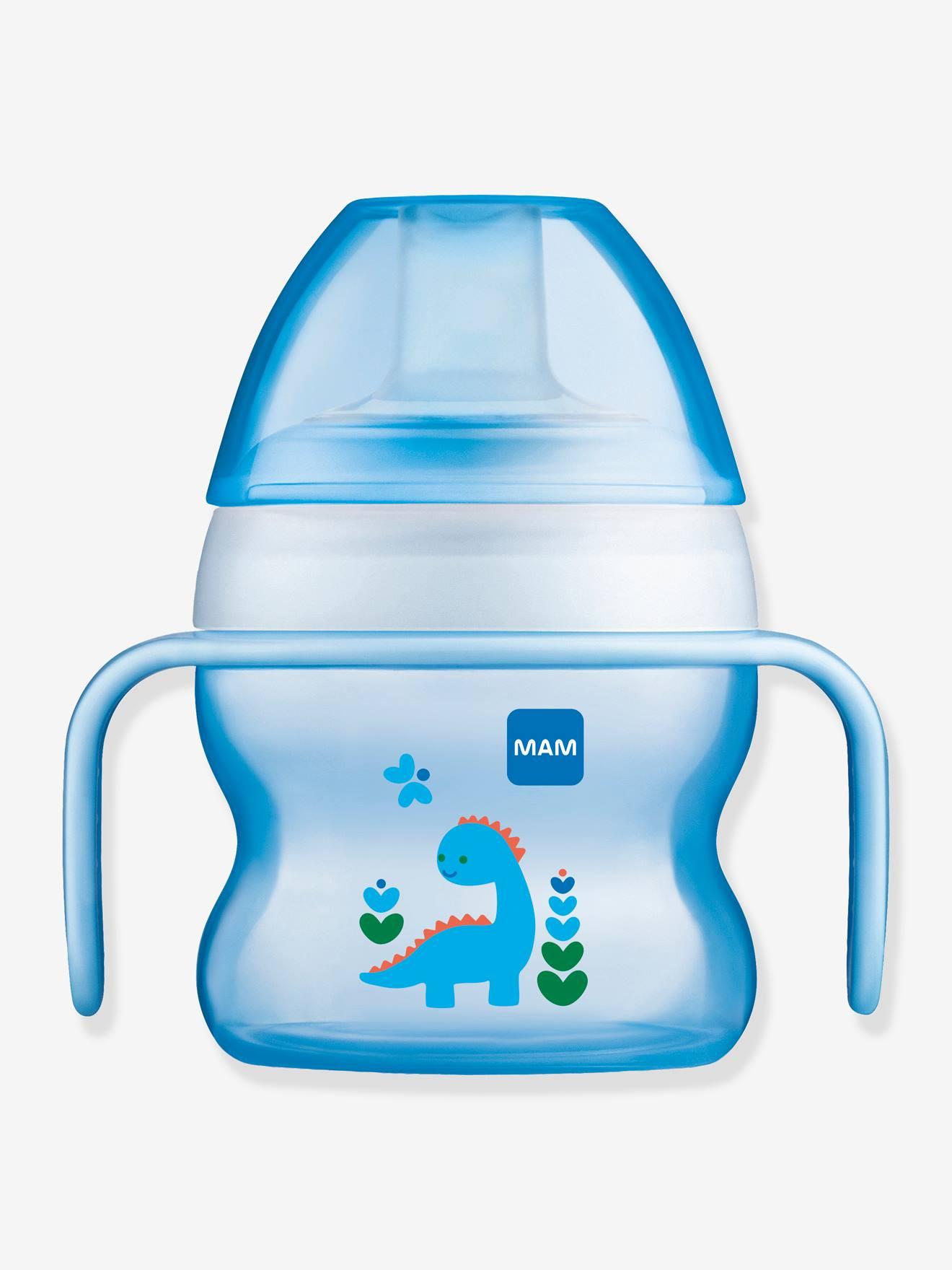 tasse a bec souple 150 ml mam starter cup animal avec anses