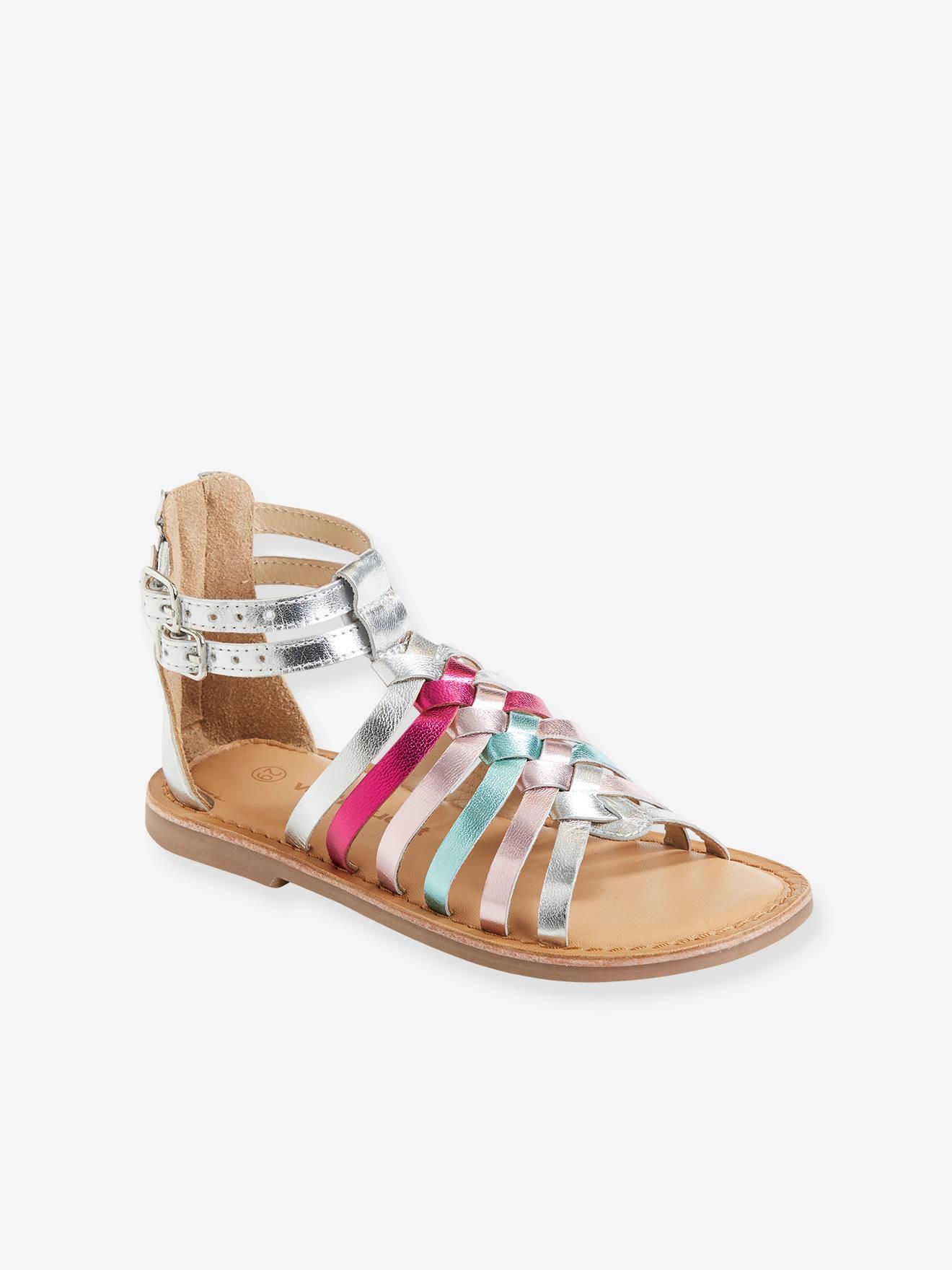 Sandales filles multibrides zippées au talon Geox