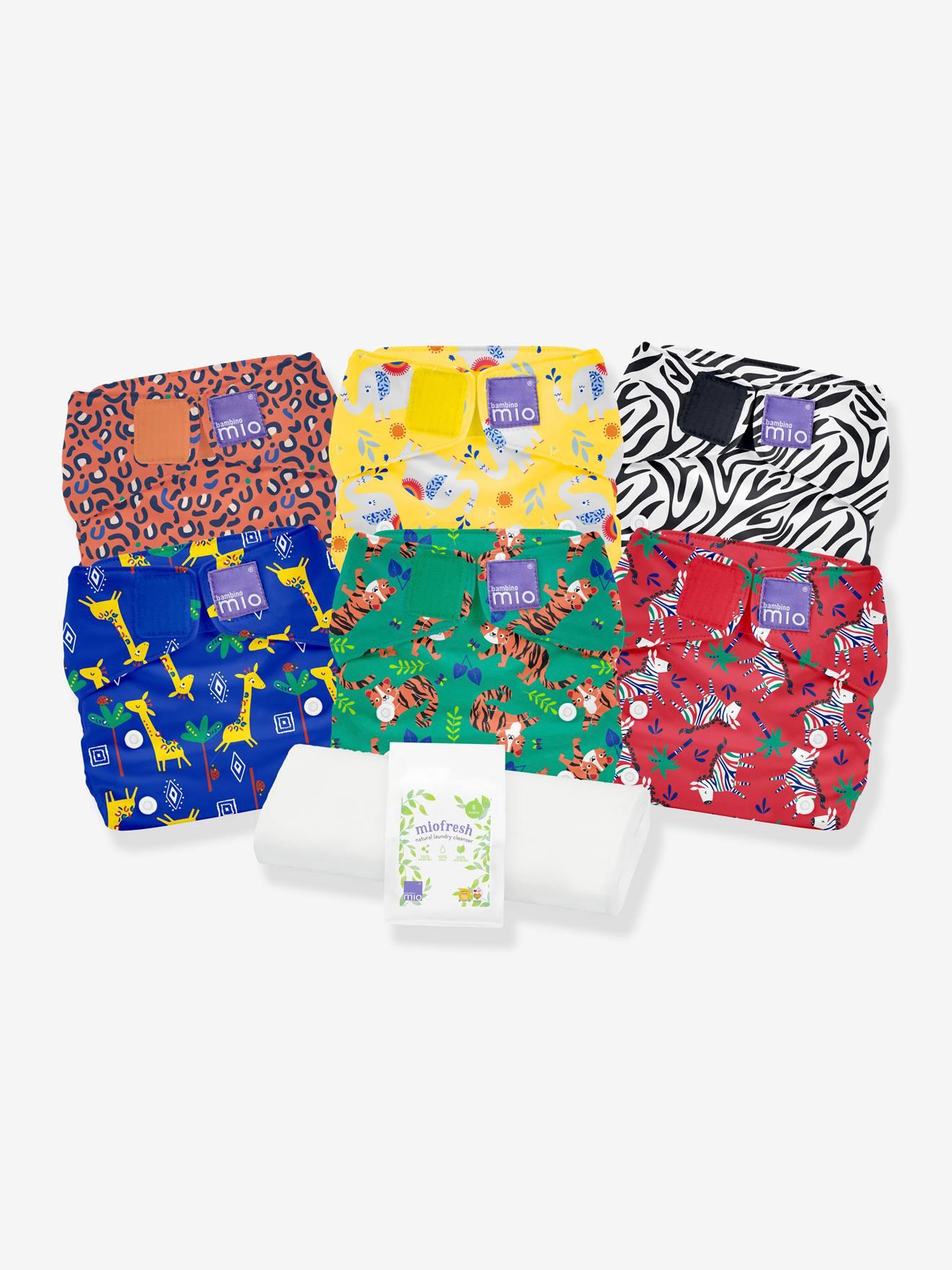 Miosolo pack de couches lavables BAMBINO MIO safari en fête