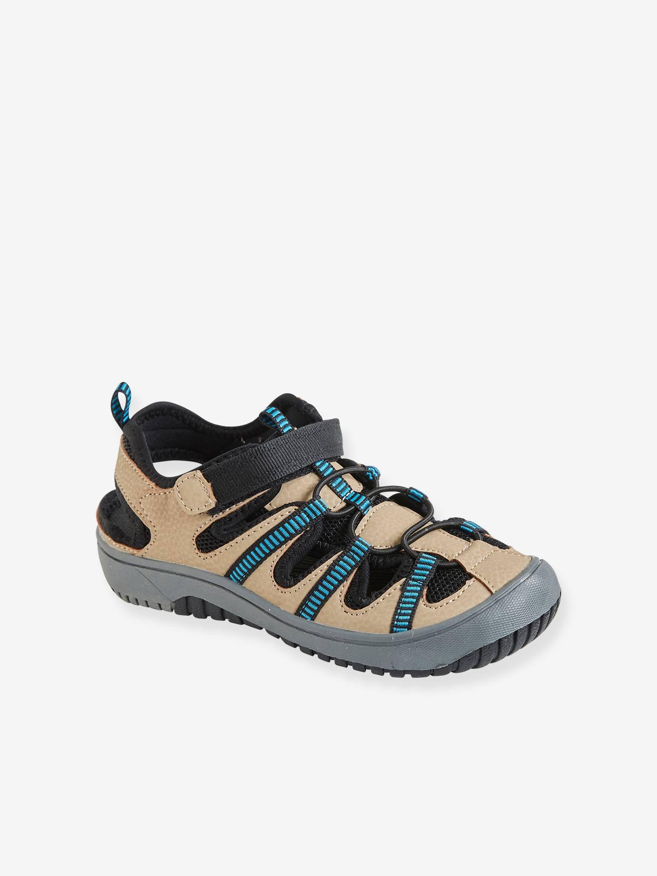 Sandales tout terrain garçon taupe