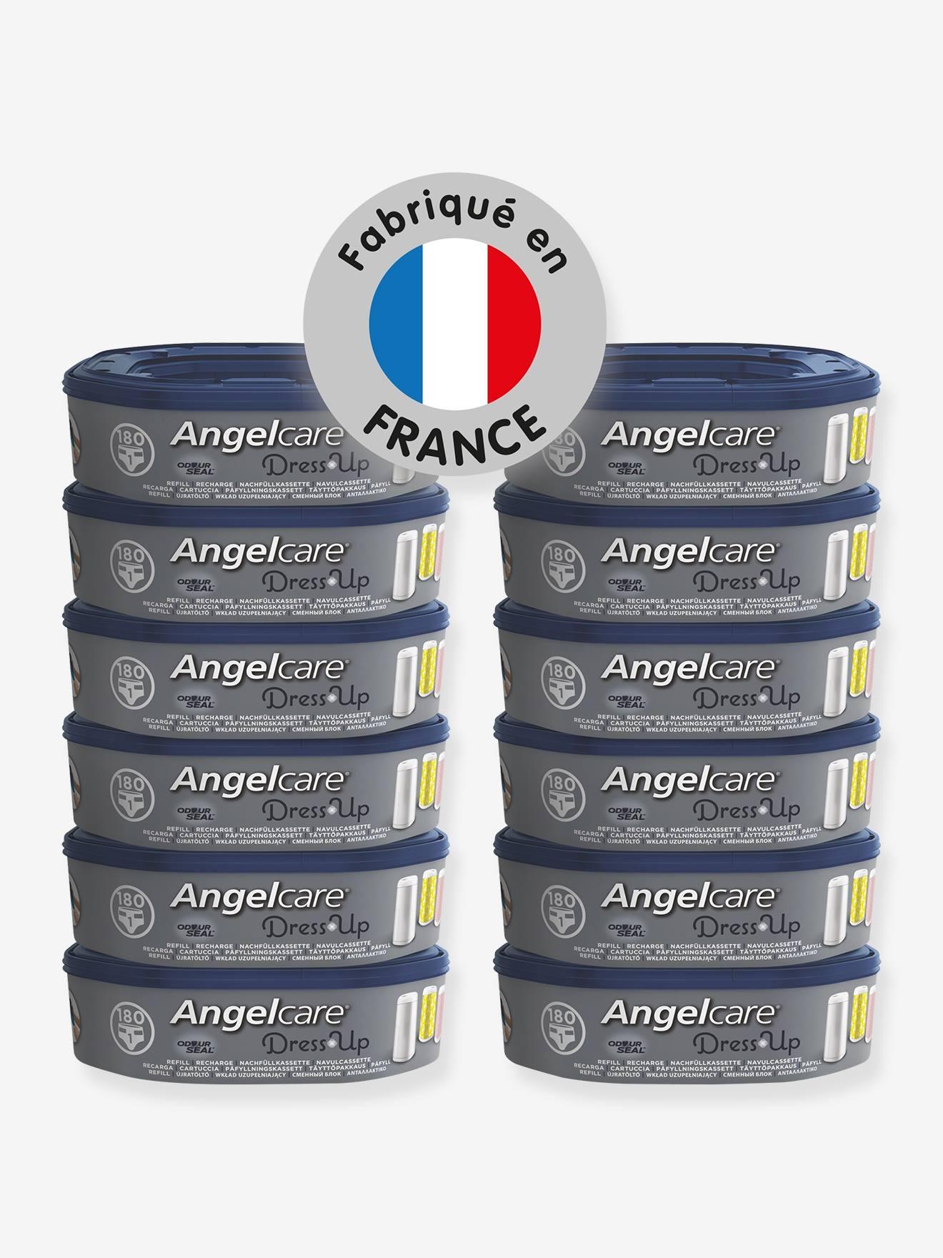 Lot de 12 recharge pour poubelle à couches Dress up ANGELCARE bleu et blanc