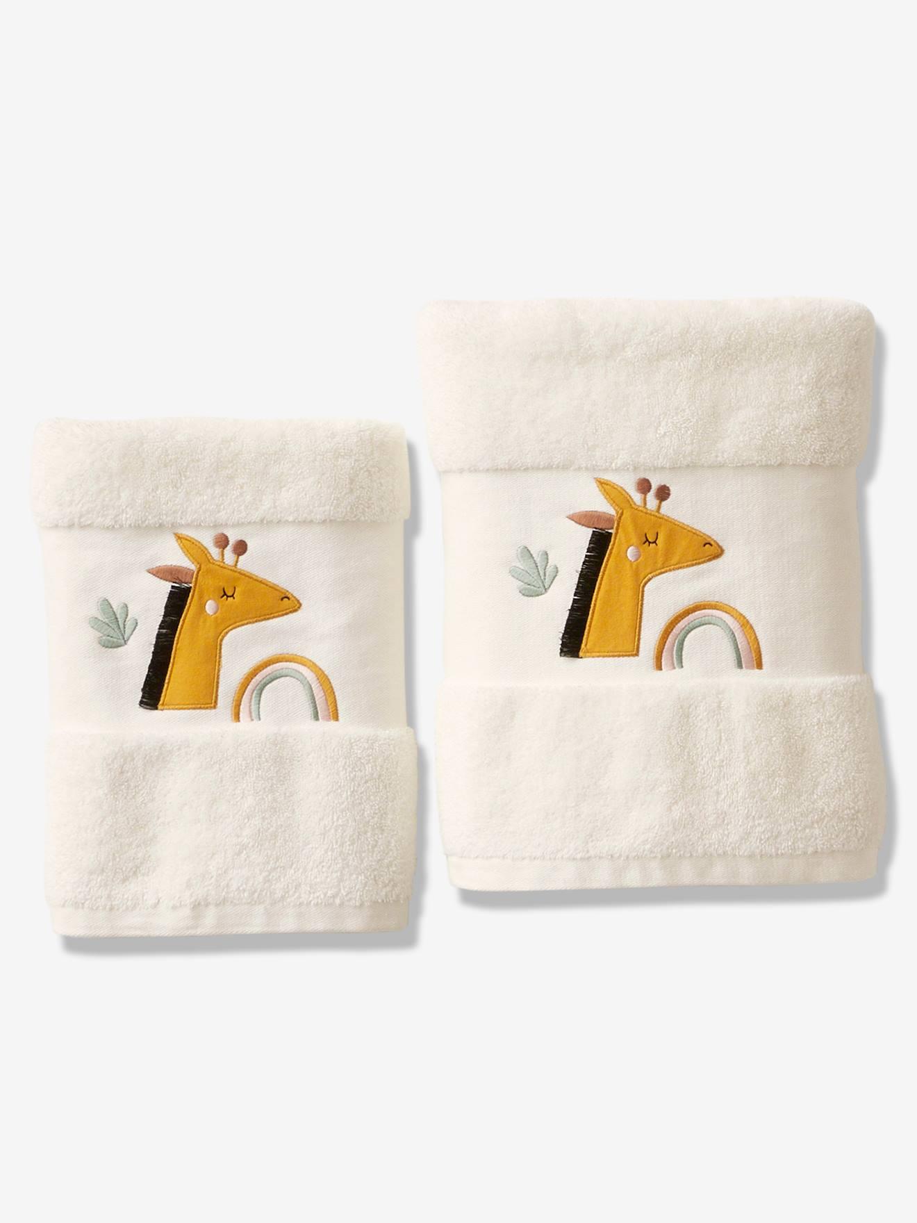 Serviette de bain Girafe ivoire