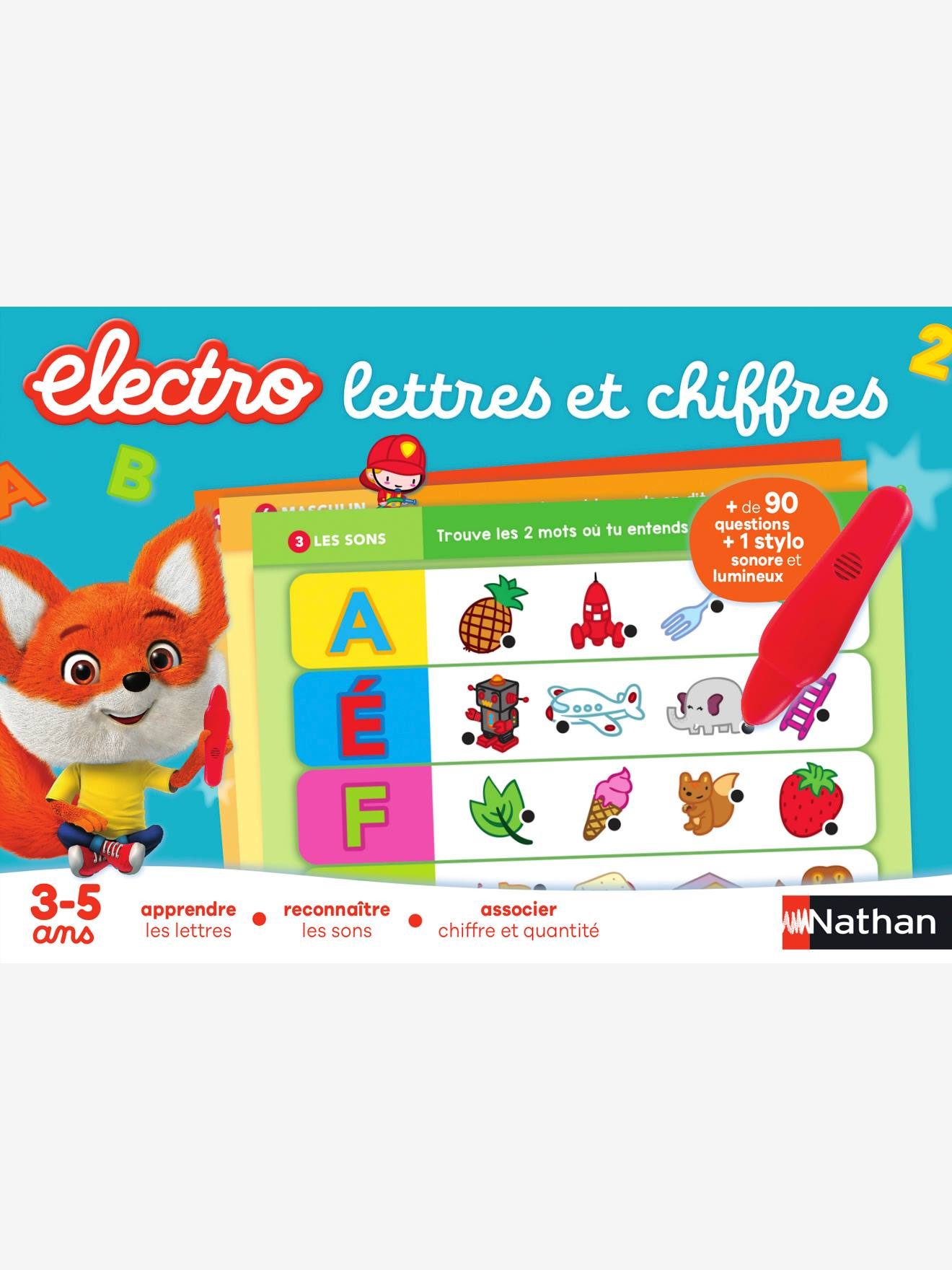 Electro lettres et chiffres NATHAN bleu