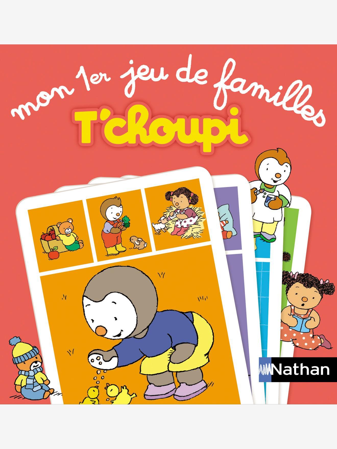 Mon premier jeu de familles T'choupi NATHAN rouge