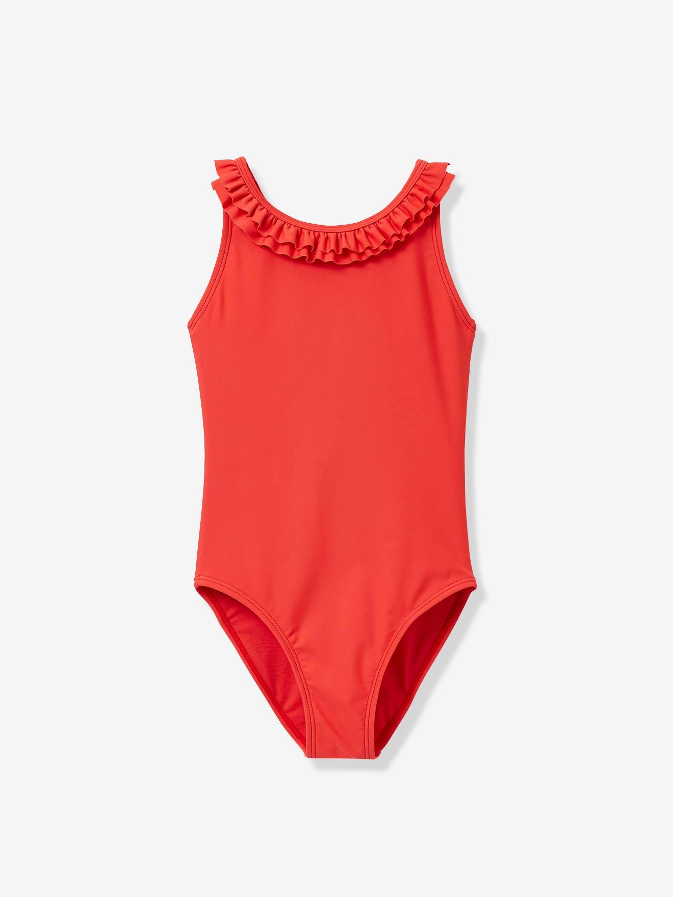 Maillot de bain 1 pièce fille CYRILLUS rouge