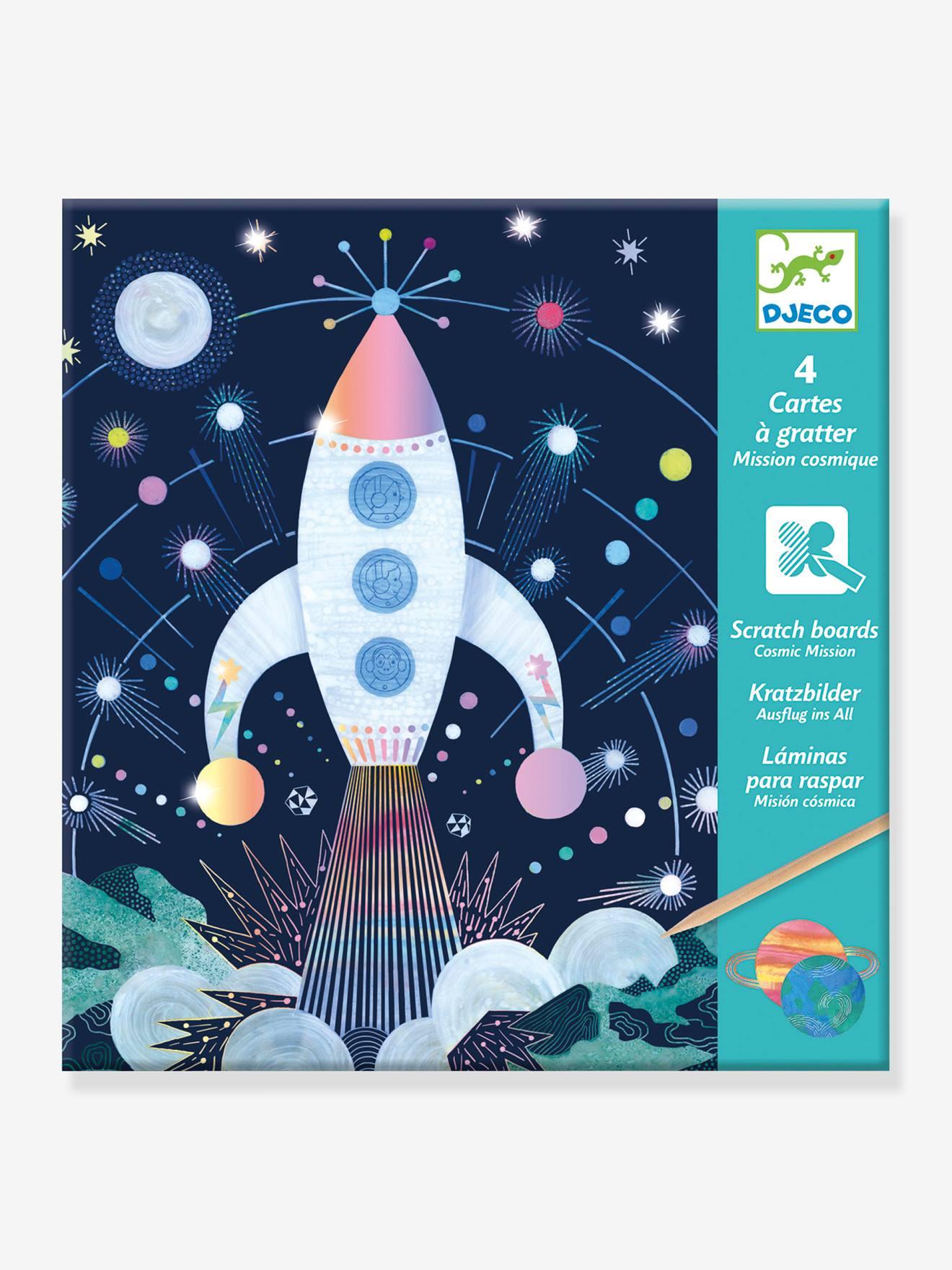 Cartes à gratter Mission cosmique DJECO bleu