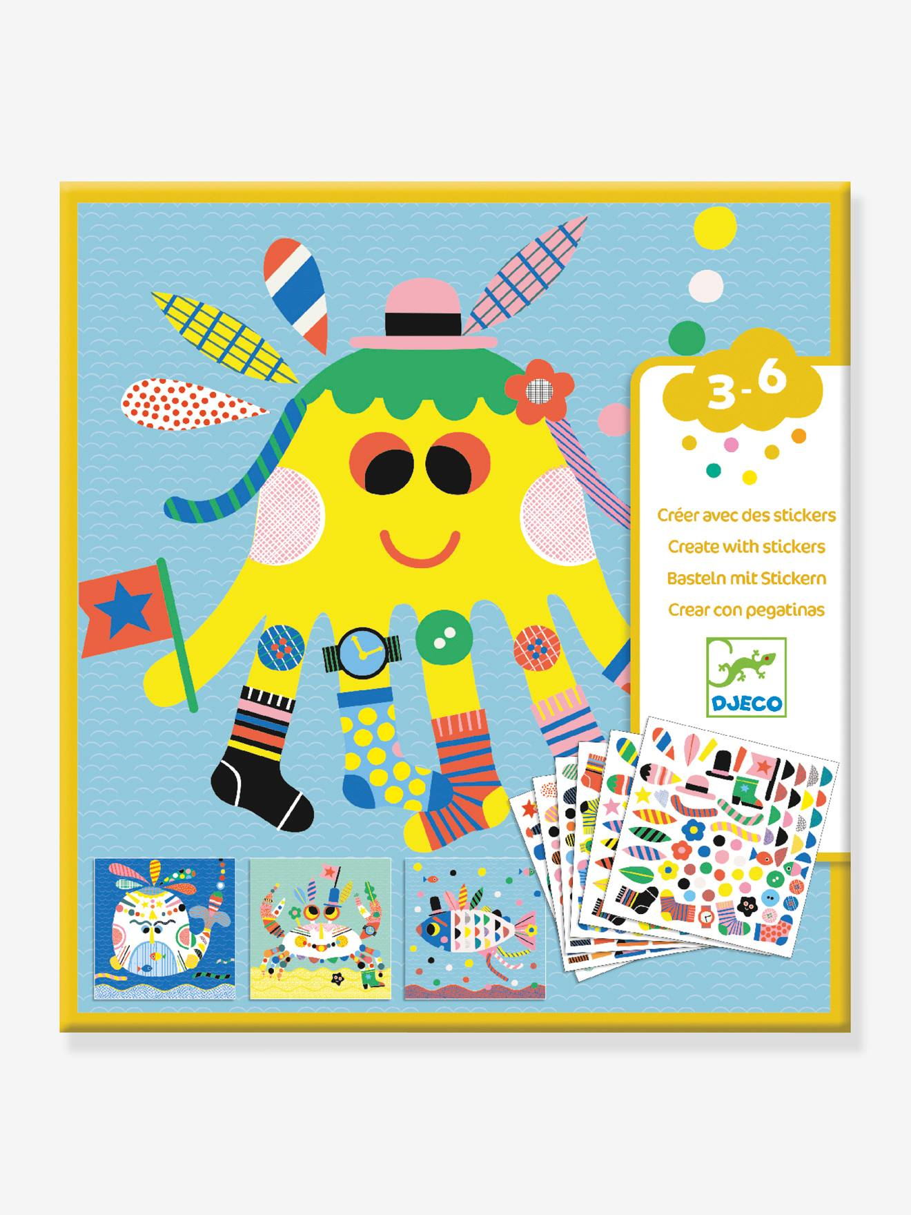 Stickers Marins DJECO jaune