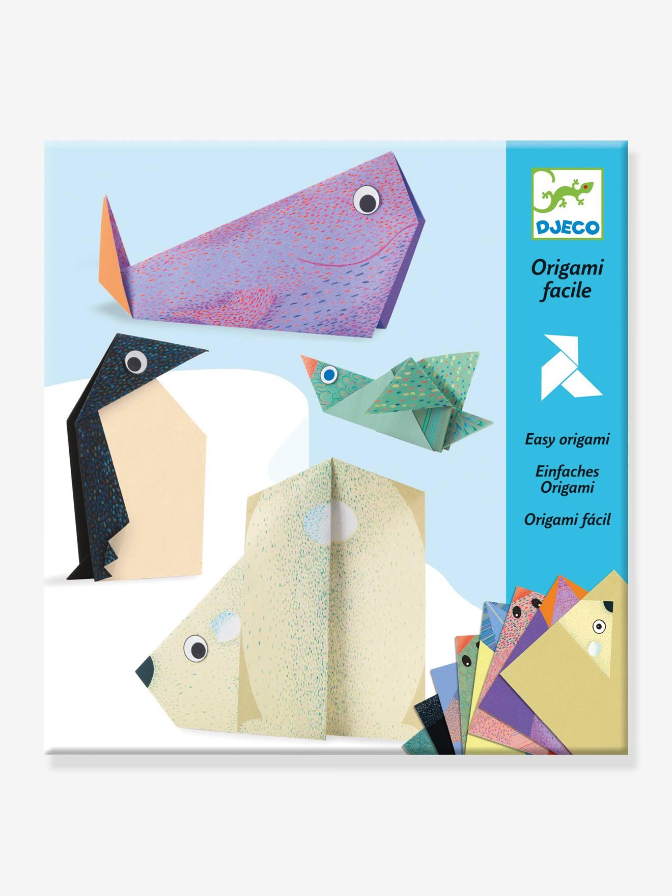 Origami facile - Les animaux polaires DJECO bleu