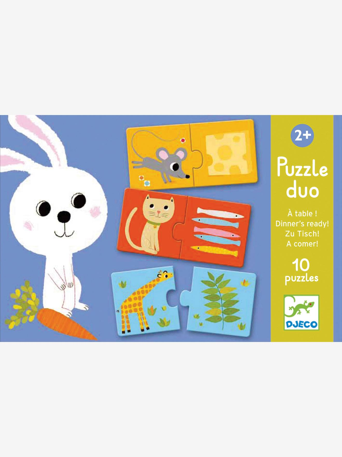 Puzzle duo A table ! DJECO bleu