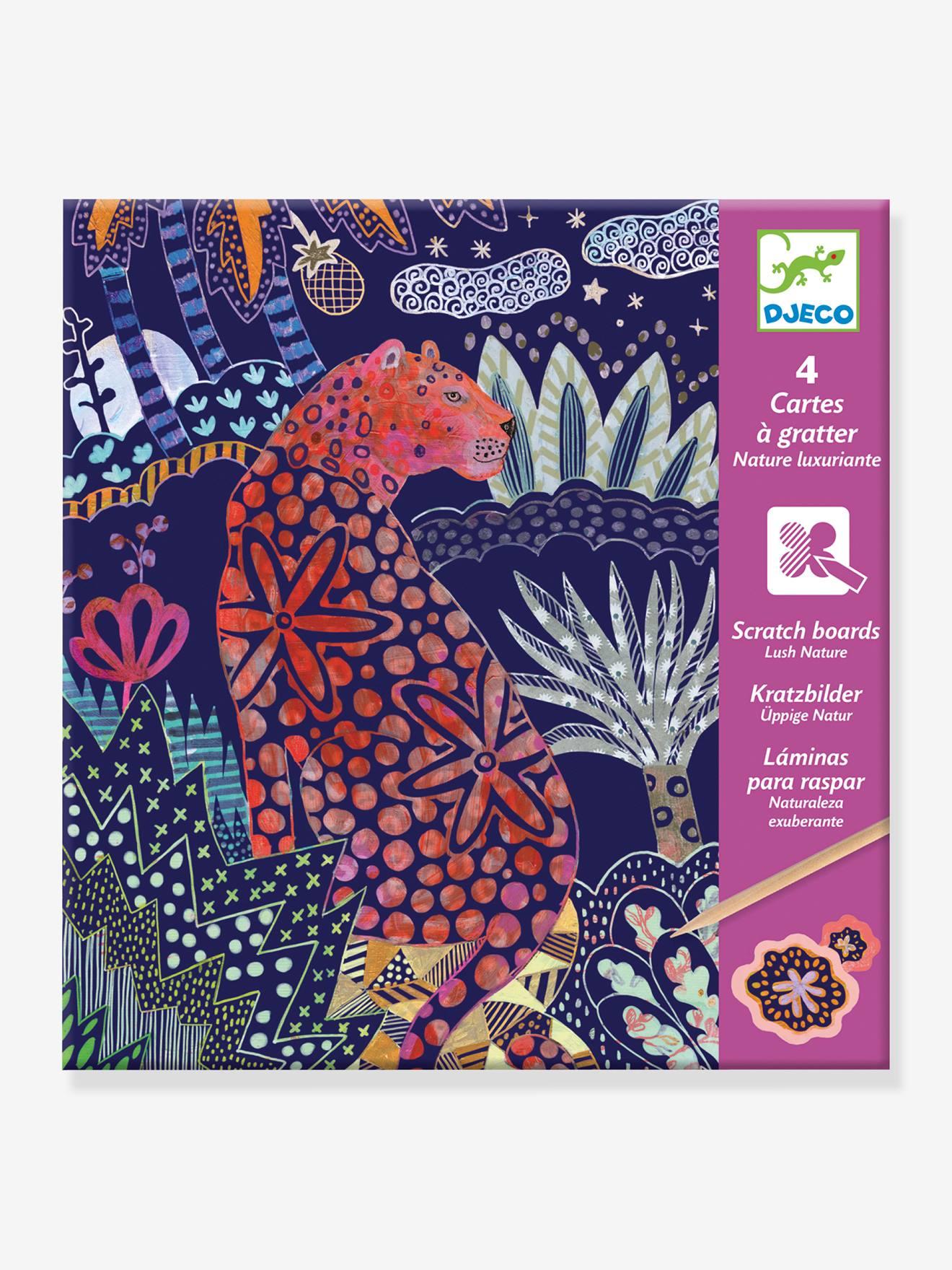 Cartes à gratter Nature luxuriante DJECO violet