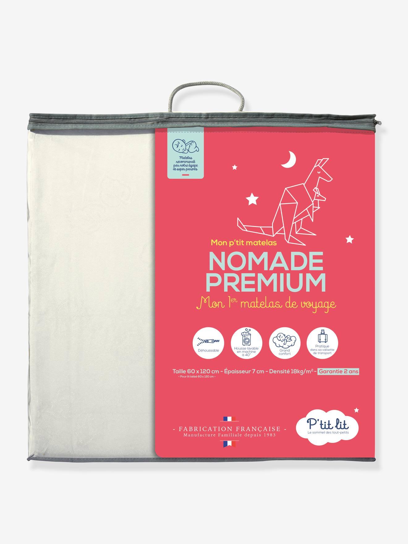 Matelas Nomade Premium Pliant 2 parties P'TIT LIT blanc