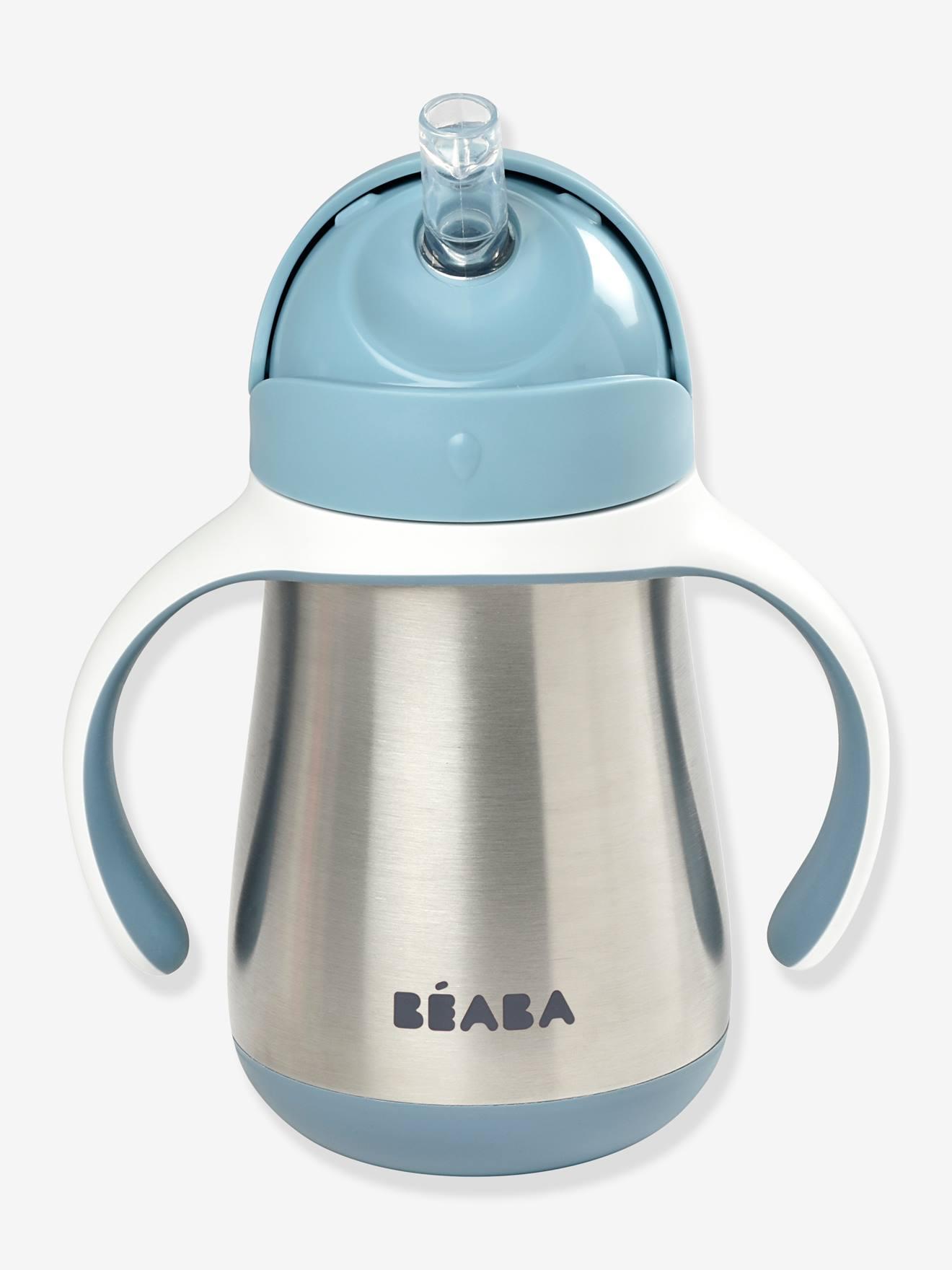 Tasse paille inox (250 ml) BEABA bleu