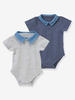 outlet-Bébé-Lot de 2 bodies bébé col polo