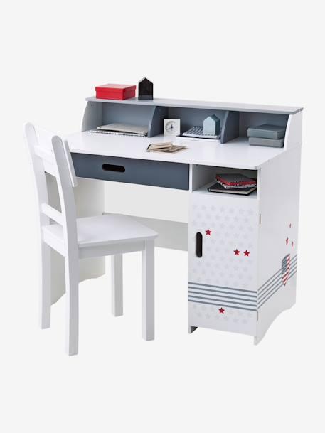 bureau junior ecusson blanc vertbaudet. Black Bedroom Furniture Sets. Home Design Ideas