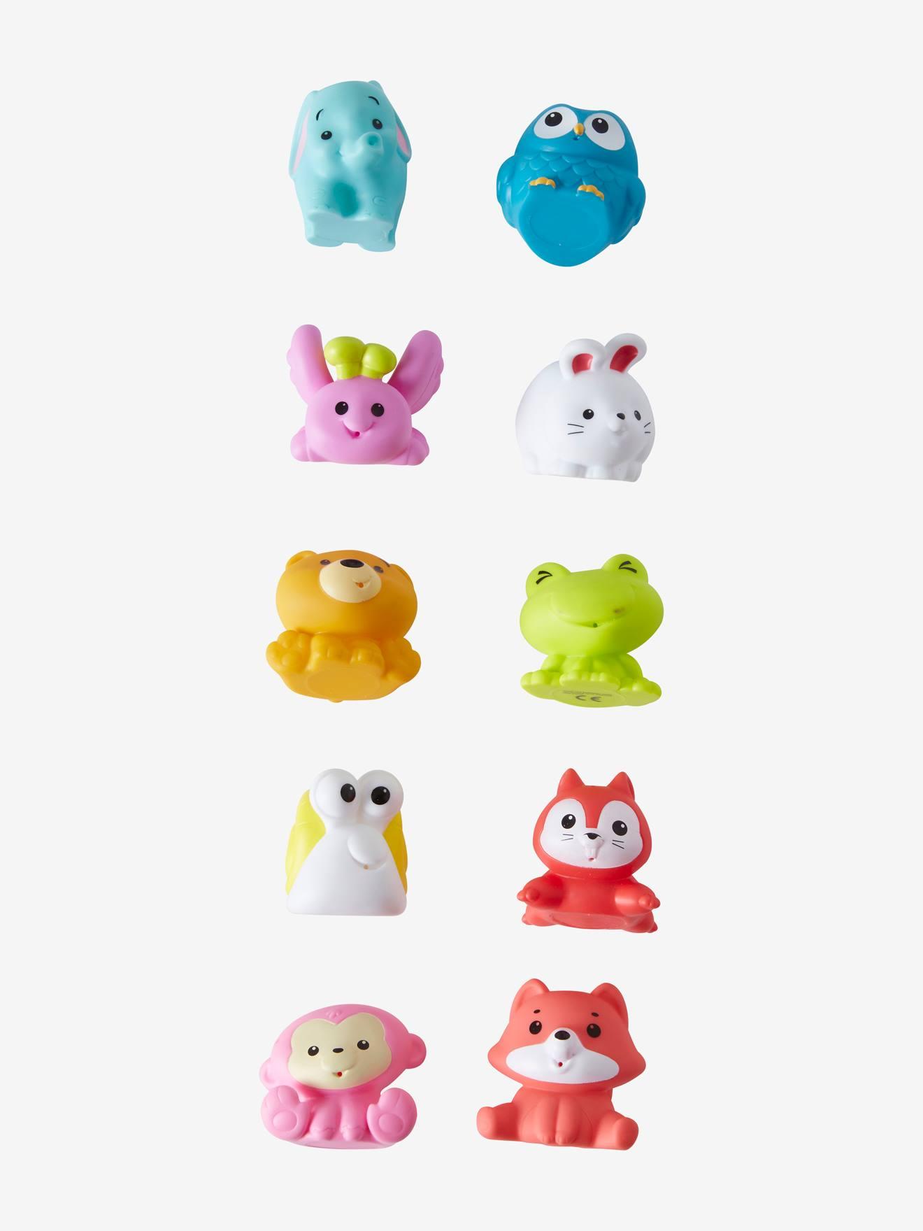 Set de 10 aspergeurs de bain animaux multicolore
