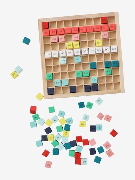 Jeu Des Tables De Multiplication En Bois Multicolore Vertbaudet