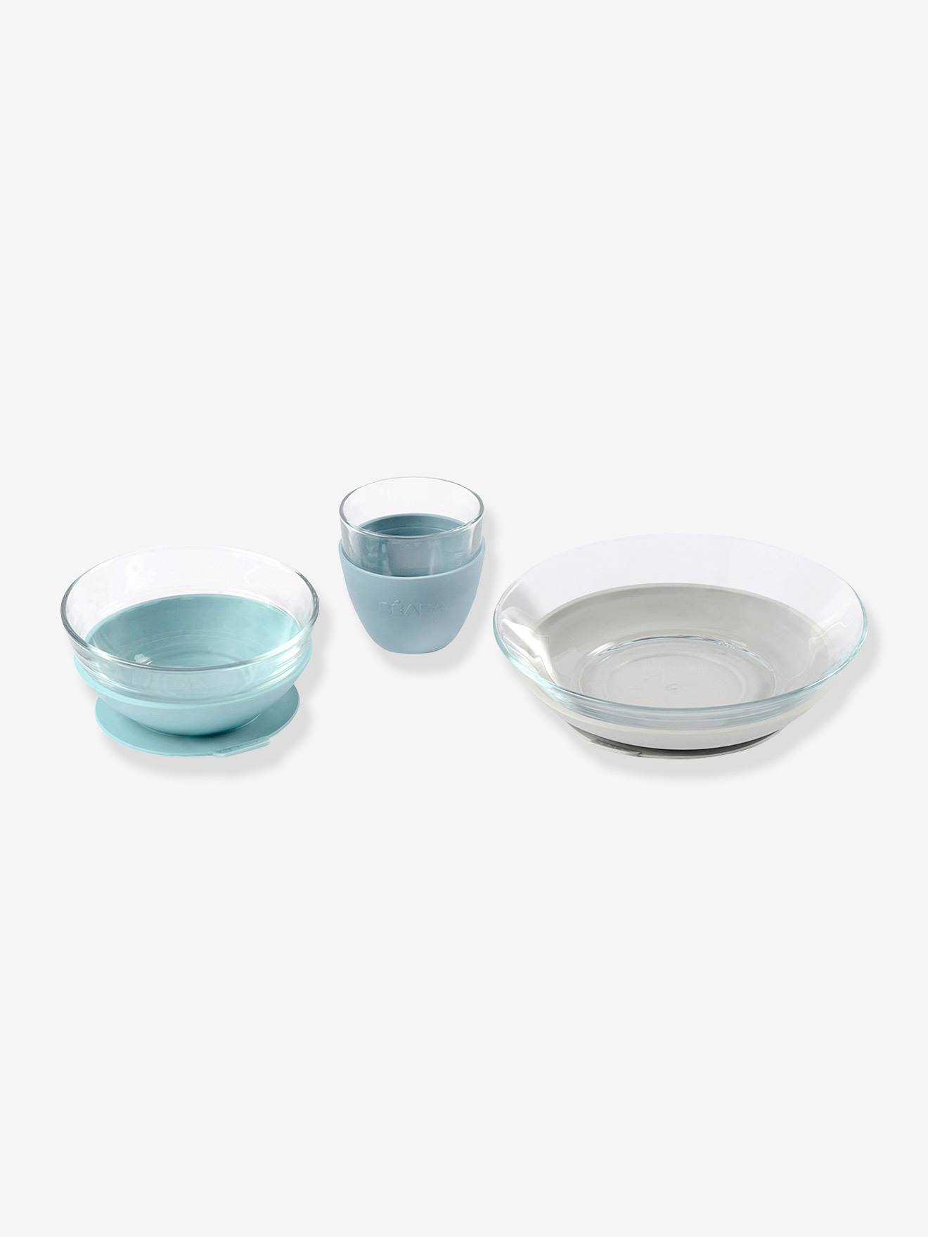 Coffret repas en verre BEABA X DURALEX bleu