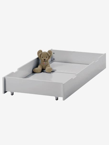 tiroir de rangement roulettes pour lit b b blanc. Black Bedroom Furniture Sets. Home Design Ideas