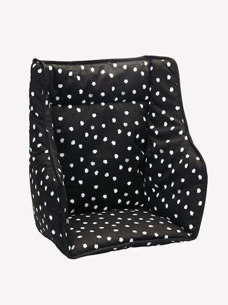 Coussin De Chaise Haute VERTBAUDET Noir Imprime 1