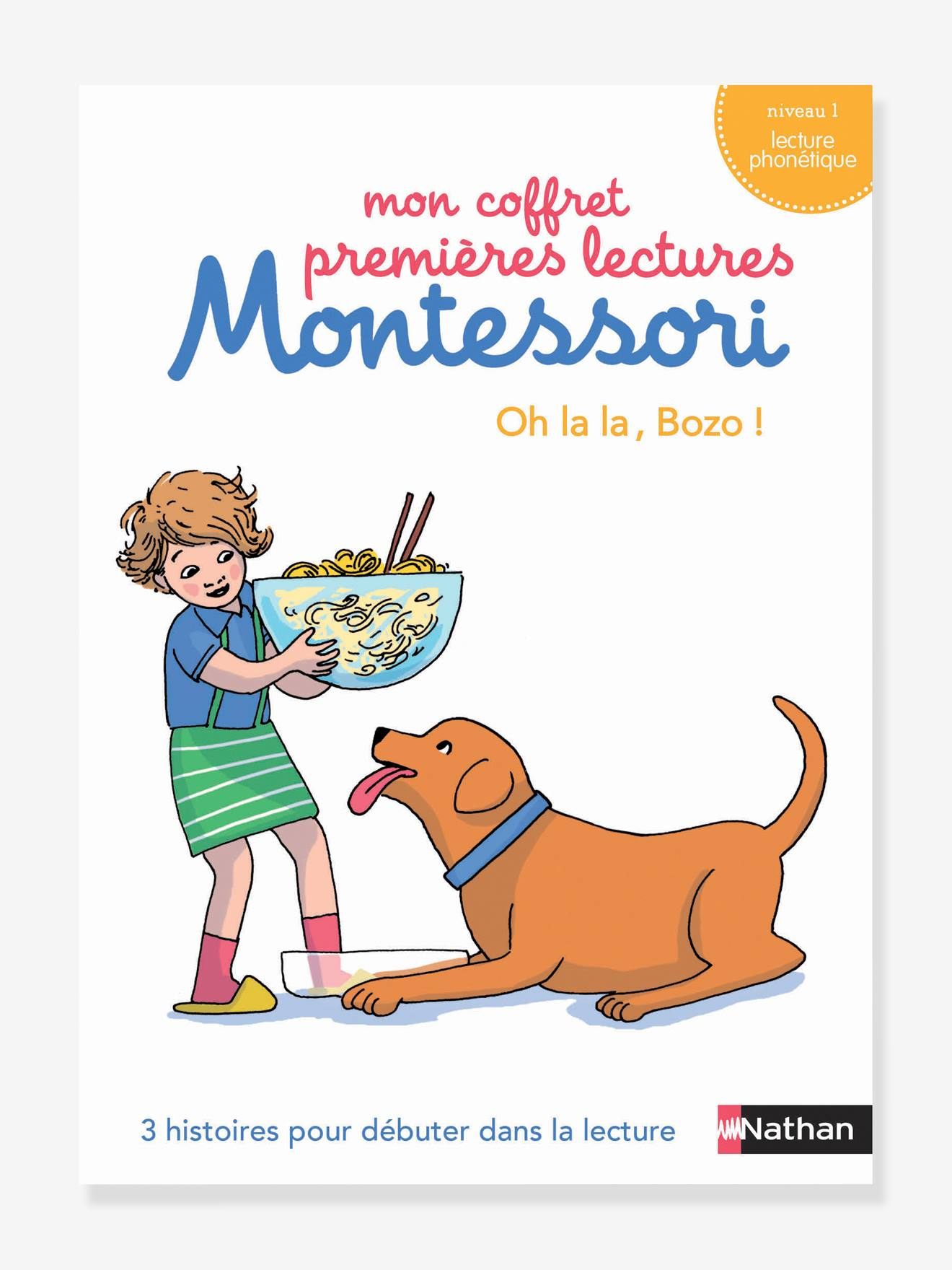 Coffret éducatif Premières lectures Montessori NATHAN - Oh la la Bozo, niveau 1