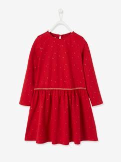 Robe Fille Rouge Vente En Ligne De Robes Pour Enfants Filles Vertbaudet