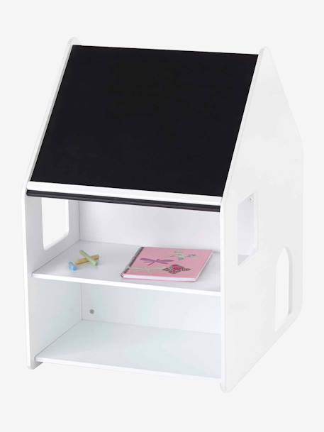 Combin maternelle bureau chaise casaburo blanc gris vertbaudet - Bureau enfant maternelle ...