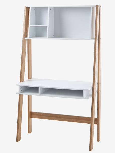 bureau sp cial primaire avec tag res ligne architekt blanc bois vertbaudet. Black Bedroom Furniture Sets. Home Design Ideas