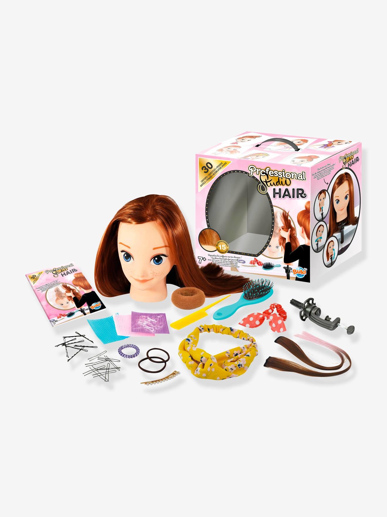 Tête à coiffer avec étau BUKI rose