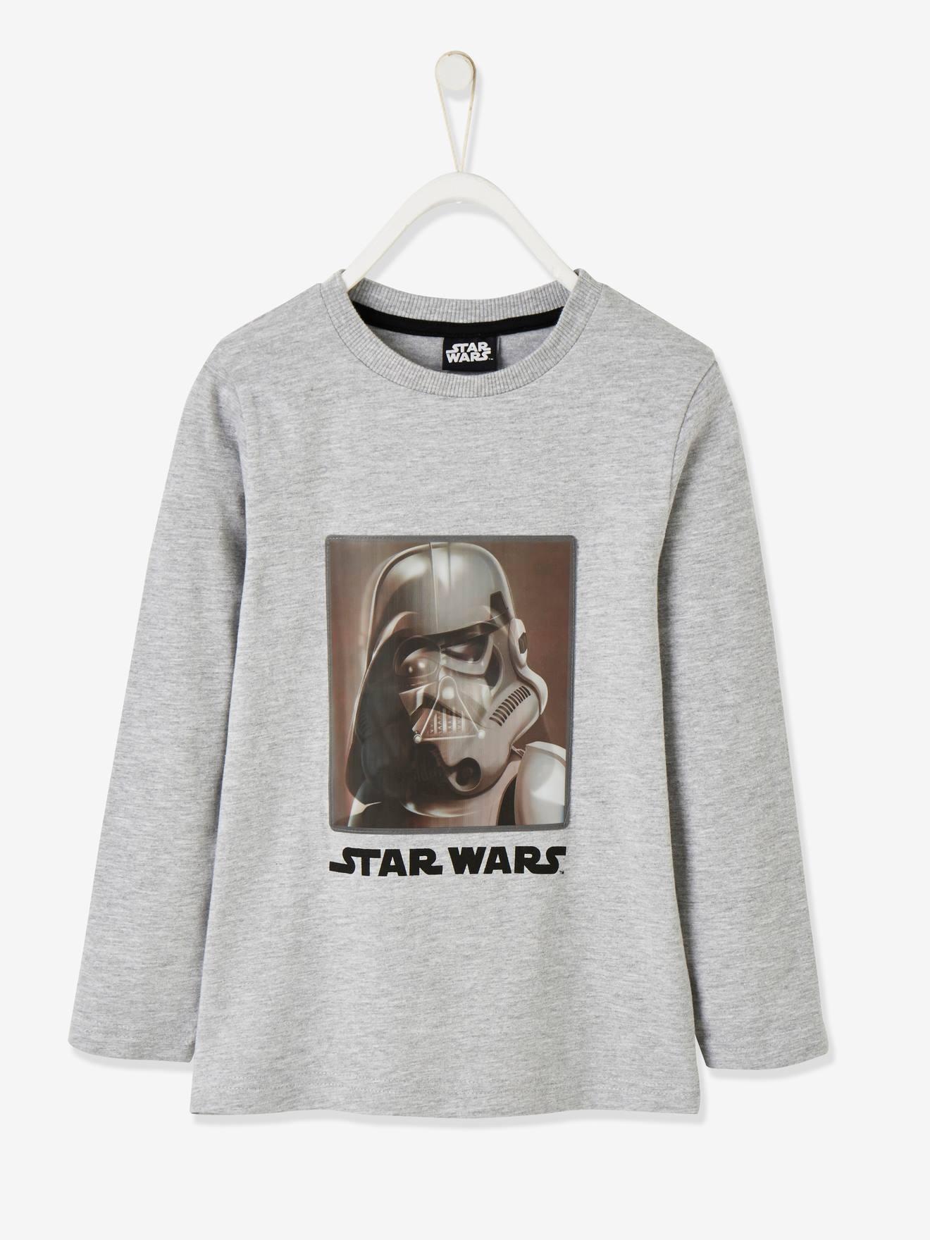 T-shirt Star Wars® garçon motif hologramme gris clair chiné