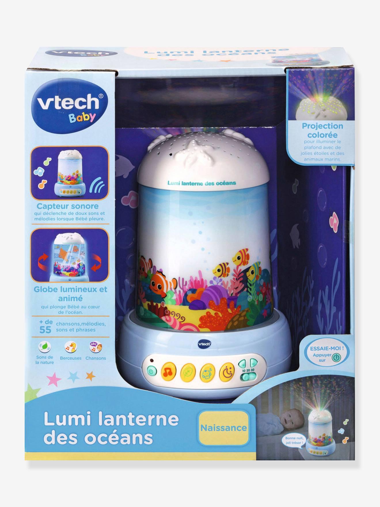 Veilleuse musicale et projecteur d'images Lumi lanterne des océans VTECH bleu