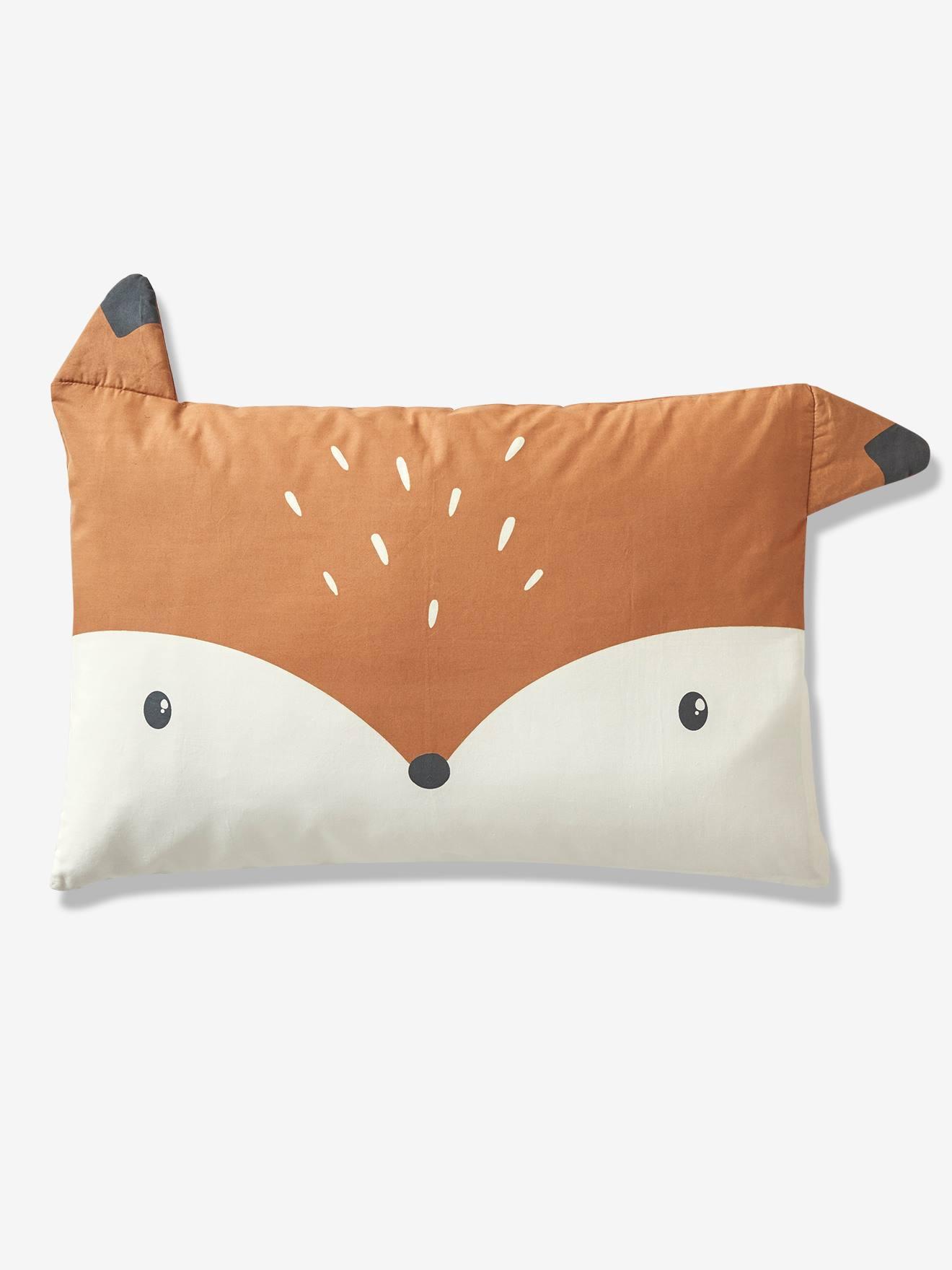 Taie d'oreiller bébé BABY FOX Oeko-Tex® noisette