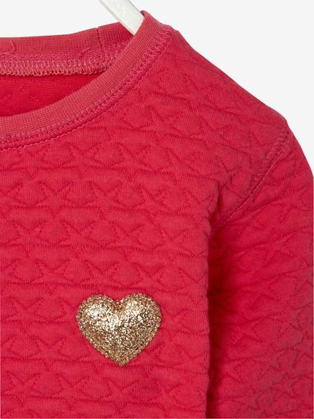 Sweat fille molleton texturé Encre+Rose vif 9 - vertbaudet enfant