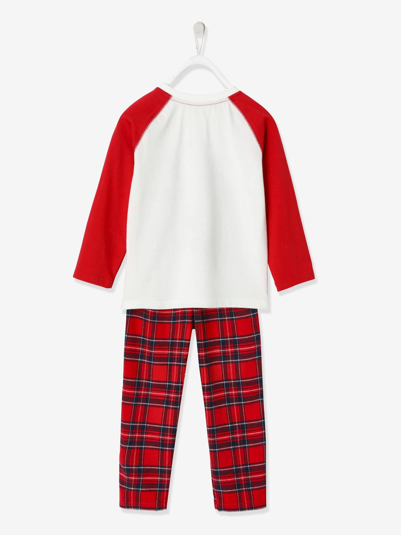 VERTBAUDET Coffret cadeau de No/ël b/éb/é mixte pyjama 71CM bonnet rouge brique 9M