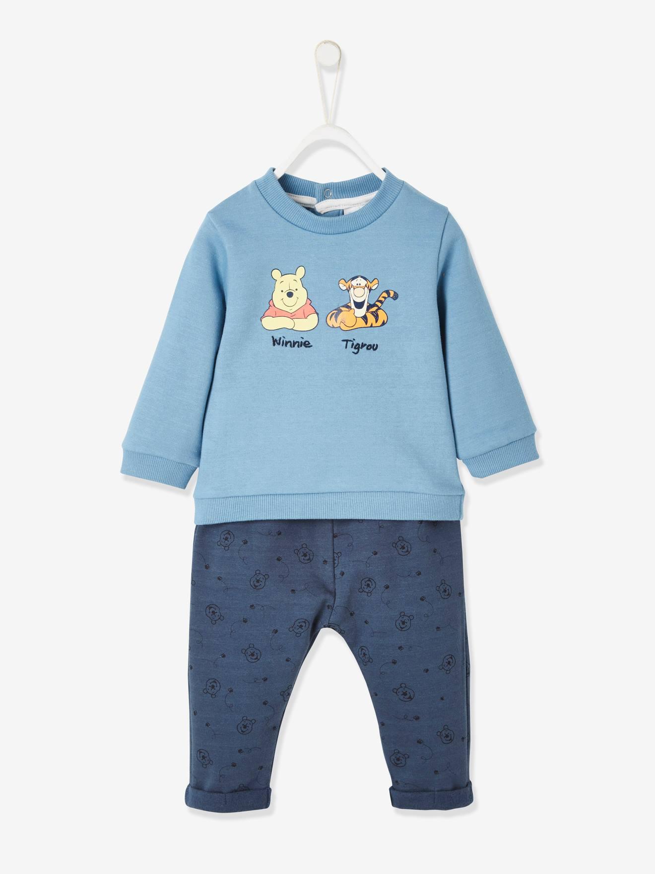 Ensemble bébé garçon Disney Winnie L'ourson® sweat et pantalon sarouel bleu jean
