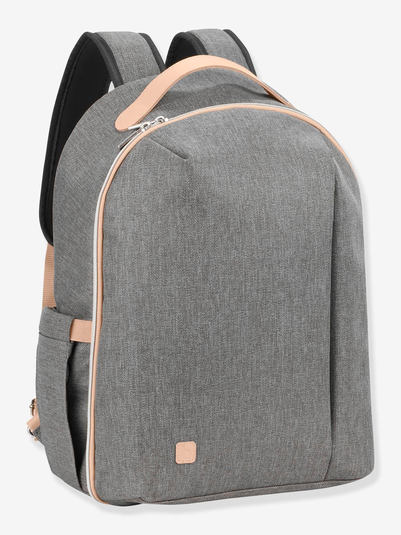 Sac à dos à langer BABYMOOV Pyla gris chiné (smokey)