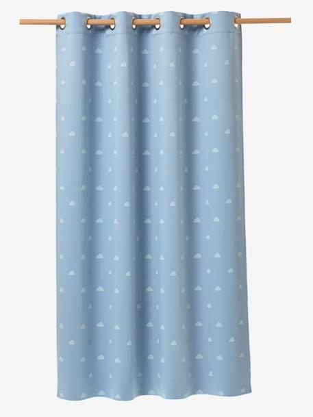 rideau occultant phosphorescent bleu blanc vertbaudet. Black Bedroom Furniture Sets. Home Design Ideas