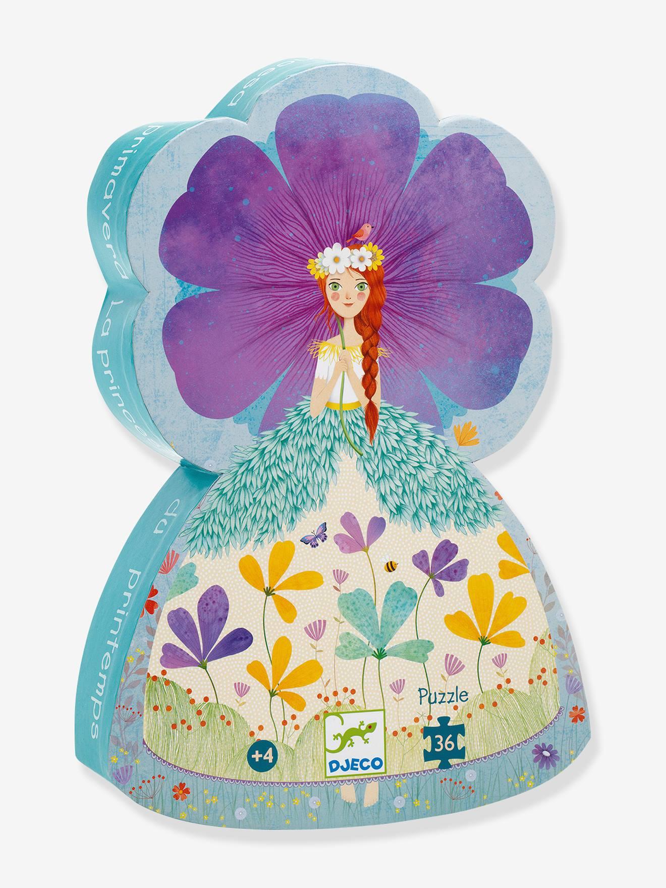 Puzzle La Princesse du printemps 36 pièces DJECO bleu