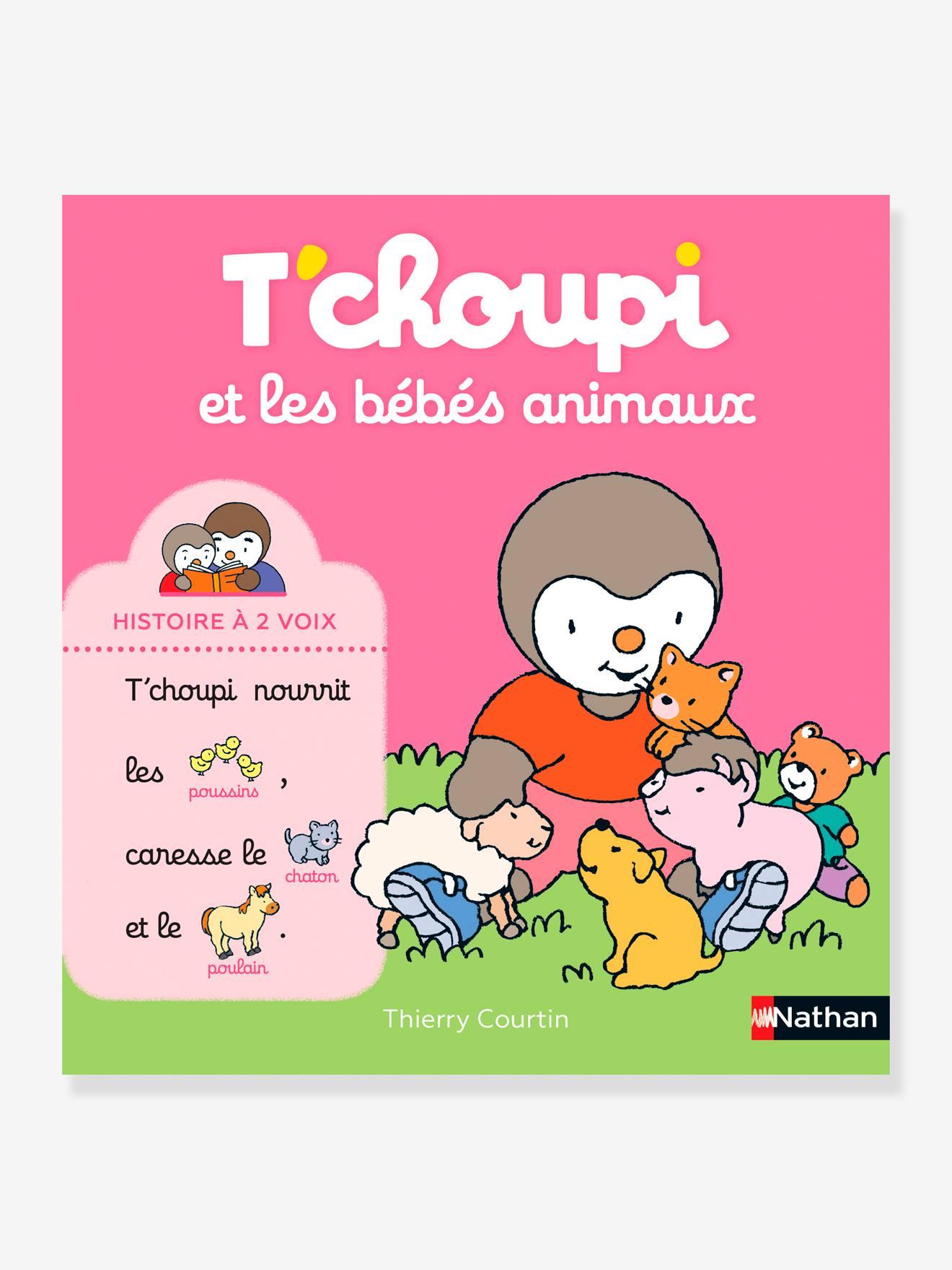 Livre T'choupi et les bébés animaux - Histoire à 2 voix NATHAN multico