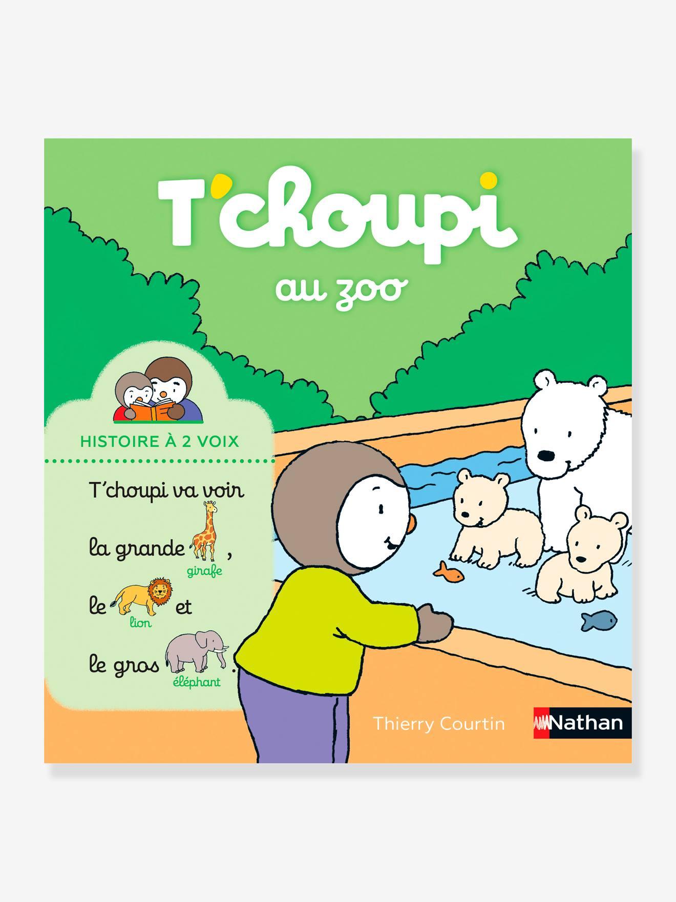 Livre T'choupi au zoo - Histoire à 2 voix NATHAN multico