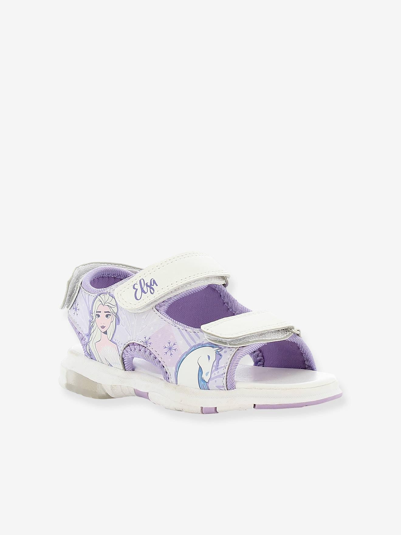 Sandales avec semelle lumineuse Reine des Neiges 2 violet clair avec décor