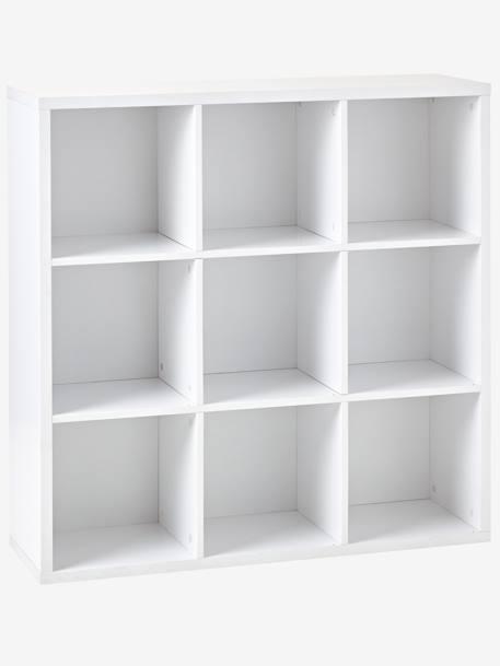Meuble de rangement 9 cases blanc vertbaudet for Meuble 8 cases ikea
